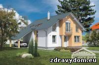 AKTUÁL 37 je dom menšej veľkostnej kategórie | poschodový rodinný dom s obytným podkrovím bez suterénu | vhodný do dvojpodlažnej okolitej zástavby na rovinatý prípadne mierne svahovitý terén | prízemie je riešené ako denná časť, ktorá je z veľkej časti tvorená veľkopriestorom obývacej izby, jedálne a kuchyne | veľkou prednosťou tohoto domu je samostatná izba na prízemí, ktorá môže slúžiť ako hosťovská izba, prípadne ako pracovňa | podkrovie je riešené ako nočná časť s tromi izbami, kúpelňou a samostatným WC | napriek svojim malým rozmerom plne spĺňa požiadavky na bývanie až 5-člennej rodiny | vzhľadom na svoju šírku je vhodný aj na užšie stavebné parcely