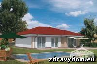 BUNGALOV 568 | 4-izbový prízemný dom s neobytným podkrovím určený pre 4-člennú domácnosť | dispozícia je prehľadne členená na dennú a nočnú časť | obývacia izba spolu s jedálňou a kuchyňou tvorí hlavný obytný veľkopriestor | jeho atraktivitu zvyšuje priehľad do krovu s čiastočne viditeľnou konštrukciou a presvetlením nad jedálenskou časťou | centrálne umiestnený krb umožňuje vykurovanie celého objektu | časť neobytného podkrovia nad nočnou časťou domu je využiteľná na skladovacie účely | zadná časť s veľkými zasklenými plochami plynulo naväzuje na terasu a zabezpečuje bohaté optické prepojenie interiéru domu s jeho okolím