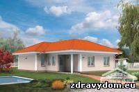 BUNGALOV 670 4-izbový prízemný dom s neobytným podkrovím určený pre 4-člennú domácnosť | kontaktný zatepľovací systém | prehľadné členenie dispozície na dennú a nočnú časť | výborný pomer medzi obytnou plochou a celkovou podlahovou plochou | priestranná obývacia izba s krbom a separovaným jedálenským kútom | priame prepojenie dennej časti s terasou | jednoduché bezbariérové riešenie dispozície | časť neobytného podkrovia je využiteľná na skladovacie účely | bočné steny bez okien umožňujú osadiť dom čo najbližšie k hraniciam pozemku | možnosť osadenia objektu na menšie stavebné parcely | vhodný na rovinatý, prípadne mierne svahovitý terén