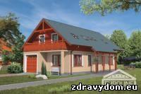 JUNIOR 55 je dom menšej veľkostnej kategórie | poschodový rodinný dom s obytným podkrovím bez podpivničenia, ktorý spĺňa nároky na komfortné bývanie 5 - 6-člennej rodiny | veľkou prednosťou tohoto domu je vstavaná garáž s priamym vstupom do objektu pri celkovej šírke objektu len 7,5 m | plná ľavá fasáda objektu umožňuje osadiť rodinný dom čo najbližšie ku hranici parcely | objekt je vďaka svojej šírke vhodný aj na extrémne úzke stavebné parcely | zaujímavosťou dispozičného riešenia je veľkopriestor obývacej izby, jedálenského kúta a barovým sedením oddelenej kuchyne | dom je vhodný na rovinatý, prípadne mierne svahovitý terén | podkrovie okrem technickej miestnosti obsahuje dve izby detí s veľkoryso riešenou kúpeľňou | v podkroví sa tiež nachádza spálňa rodičov so samostatnou kúpelňou rodičov prístupnou zo spálne a s prepojením na samostatne prístupnú pracovňu