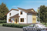 KOMFORT 181 je dvojgeneračný dom strednej veľkostnej kategórie | vhodný do dvojpodlažnej okolitej zástavby na rovinatý prípadne mierne svahovitý pozemok | tento poschodový rodinný dom je s obytným podkrovím bez suterénu | dispozícia objektu je tvorená tak, že prízemie aj podkrovie tvorí samostatnú uzavretú bytovú jednotku s obytnými miestnosťami, kuchyňou a príslušenstvom | každá bytová jednotka svojim riešením uspokojí nároky na bývanie 4 člennej rodiny | určený na stredne veľké stavebné parcely