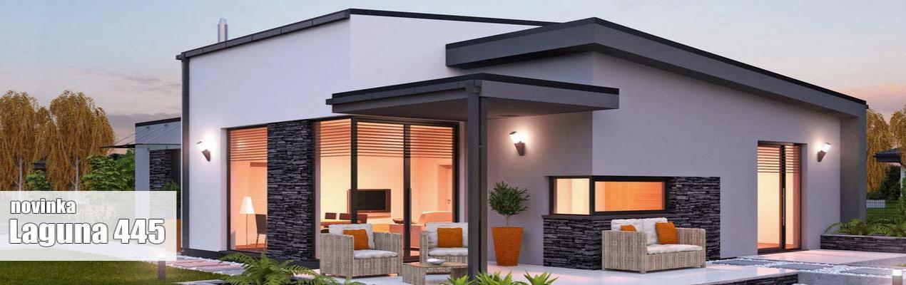 Stavba rodinného domu LAGUNA 445 – predbežná cenová ponuka. Cenová ponuka vypracovaná pre I., II. a III. stupeň vyhotovenia so zastavanou plochou domu 124,90 m2