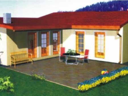 ekologickú náročnosť v montovaných domoch sa používajú prírodné materiály s optimálnymi vlastnosťami pre ľudské zdravie
