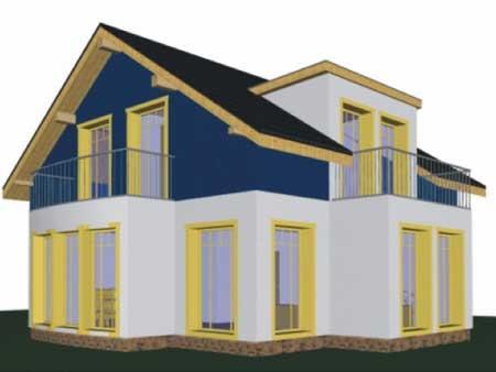 Rodinný dom Omega 244,44 m2 holostavba exteriér/interiér: €65 021* (€266/m2 z.p.) -Dom na kluč.