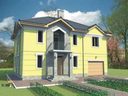 Rodinný dom Fialka 235,4 m2 holostavba exteriér/interiér: €62 616* (€266/m2 z.p.) -Stavba domu trvá len 30 dni.